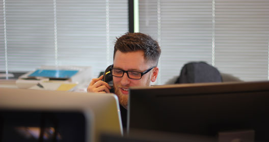 Man answering a business call